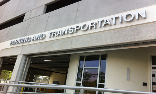 Picture of the front of Parking and Transportation Office
